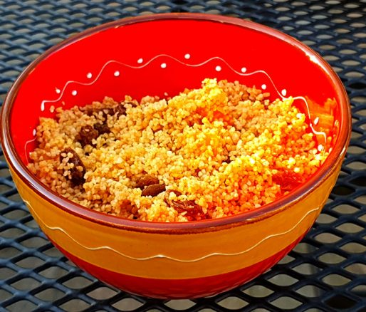 Couscous salade met fruit